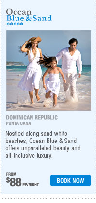 Ocean Blue & Sand from $88pp/night